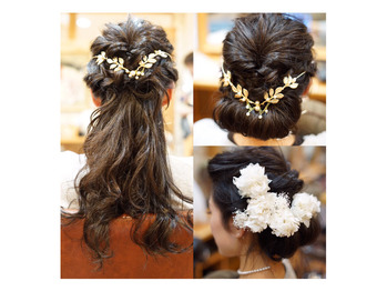 結婚式のヘアセット3パターン